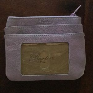 Buxton leather wallet. Lavender.